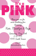 Pink Polka Dot Custom Invitation