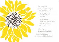 Sunflower Custom Invitation