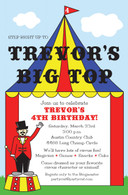 Big Top Custom Invitation