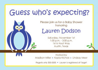 Blue Owl Custom Invitation