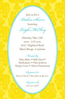 Yellow Damask Custom Invitation