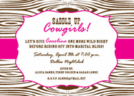 Wood Grain Pink Custom Invitation