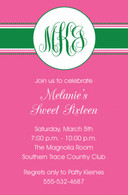 Preppy Pink Custom Invitation