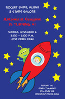Rocket Ship Custom Invitation