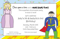 Superhero & Princess Custom Invitation