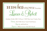 His & Hers Couples Shower Custom Invitation