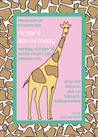 Giraffe Custom Invitation