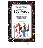80's People Invitation