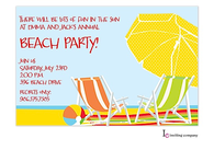 Beach Umbrellas Invitation