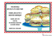 Burger Stack Invitation