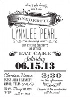 Vintage Scroll Custom Invitation