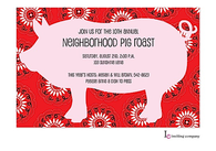 Pig Bandana Invitation