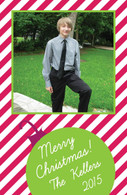 Candy Cane Stripe Custom Photo Card