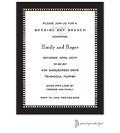 Beaded Border Black Invitation