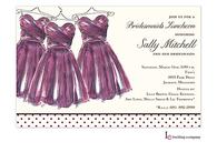 Eggplant Maids Invitation