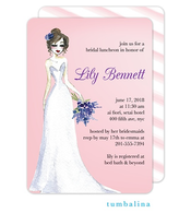 Elegant Dress Pink Invitation