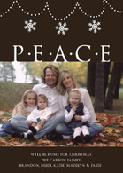 Peace and Snowflakes Custom Photo Card
