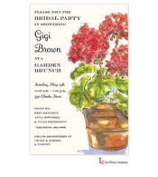 Geraniums Invitation