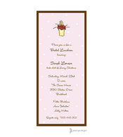 Little Dots Pink & Chocolate Invitation