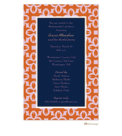 Rusty Orange, Pink, and Navy All Occasion Invitation