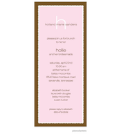 Scalloped Border Invitation - Baby Pink