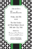 Green & Black Geometric Custom Invitation