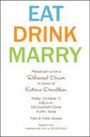 Eat Drink & Marry Custom Invitation