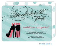Bachelorette Shoes Invitation