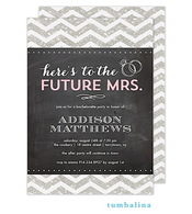 Chevron Glitter Chalkboard Light Pink Invitation