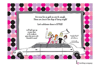 Limo Girls Invitation
