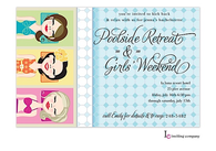 Pool Girls Invitation
