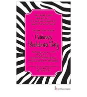 Zebra Night Invitation