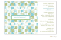 Aqua Blue and Sage Green Blocks Invitation
