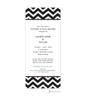 Chevron Black Invitation