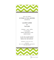 Chevron Lime Invitation
