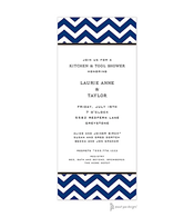 Chevron Navy Invitation
