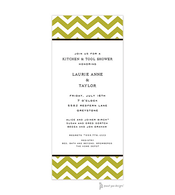 Chevron Olive Invitation