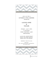 Chevron Silver Invitation