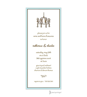 Classic Edge Aqua & Chocolate Invitation