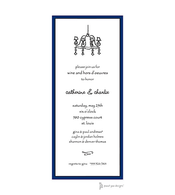 Classic Edge Navy & Black Invitation