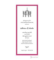 Classic Edge Pink & Black Invitation