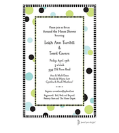 Cool Dots Black Invitation