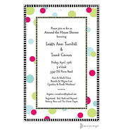 Cool Dots Pink Invitation