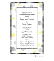 Cool Dots Yellow & Gray Invitation