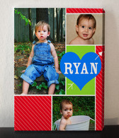 Red and Blue Photo Collage Canvas