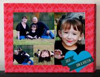 Heart Border Photo Collage Canvas