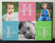 Baby Blocks Photo Collage Canvas