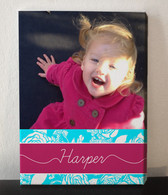 Pink and Blue Photo Collage Canvas