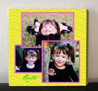 Yellow Chevron Photo Collage Canvas