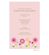 Soft pink floral invitation